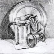 Натюрморт простым карандашом